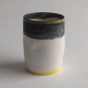 Tiny Pot with Yellow V