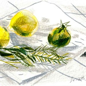 Lemons, Pomegranate and Herbs