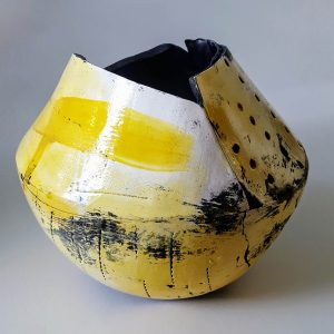 Large Yellow Open Vessel