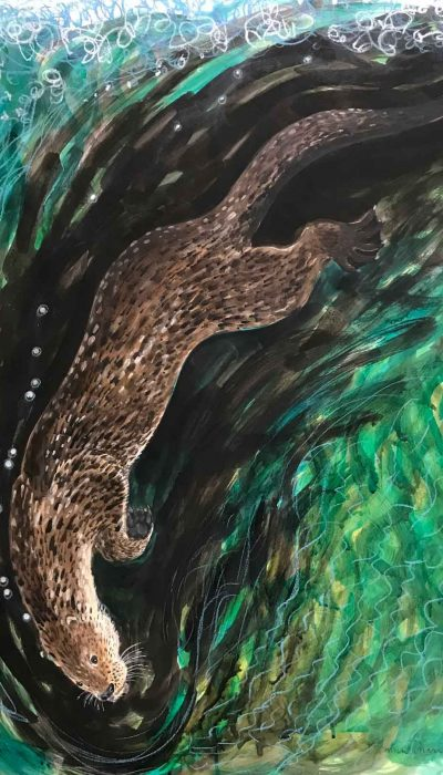 Otter-and-Waterfall