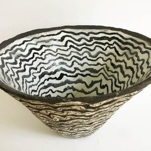 Black & White Striped Bowl