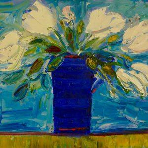 Blue Mauve Vase