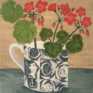 Ben Nicholson Cup and Geraniums