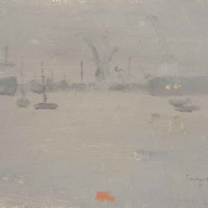 falmouth docks in the rain, 1984