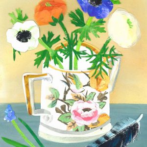 Victorian Cup and Spring Flowers