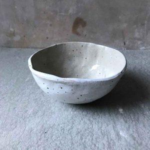 White & Speckled Bowl