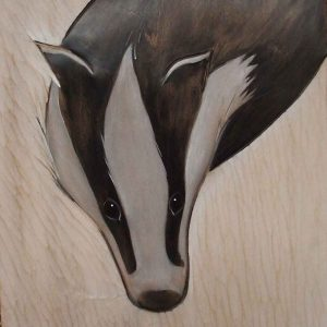 A Badger Turning
