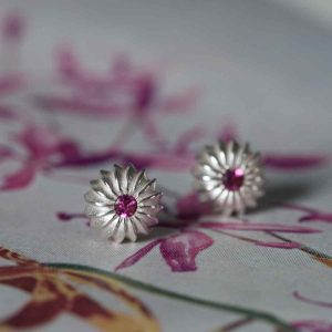 Satsuma Birthstone Stud Earrings - october
