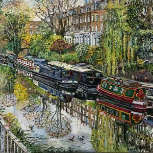 Regents canal, early spring in Islington