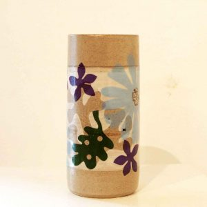 medium cylinder vase - pale blue flower