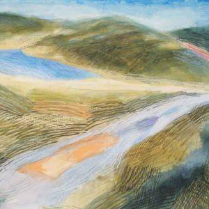 Mountain track-past the lake II (Ffordd y mynydd-heibio'r llyn II)