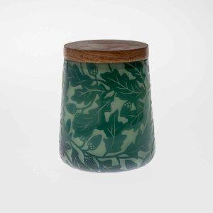 Lidded Pot - 'Oak'