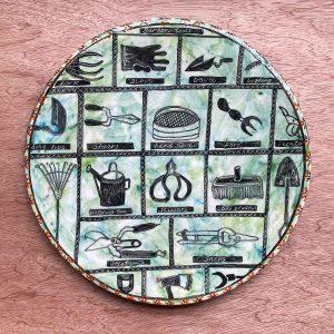 Garden Tools platter