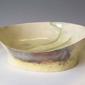 Pirton Field Lines and Hedge Large Wide Bowl
