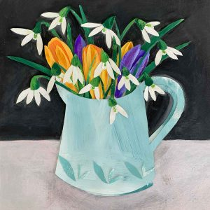 Snowdrops and Crocus Jug
