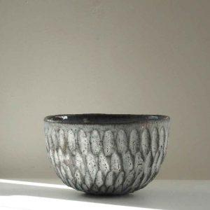 Grey Dry Kohiki Flower Petal Cereal Bowl