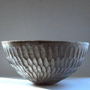 Grey Dry Kohiki Flower Petal Salad Bowl