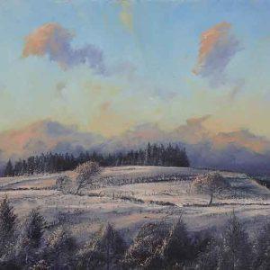 Snow above Garthmeilio
