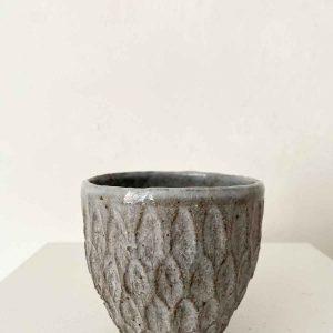 Dry Kohiki Yunomi Flower Petal Horizontal Grey