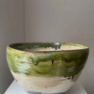 Large deep fruit bowl - green top