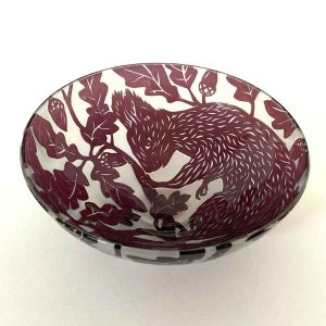Red Squirrel Shallow Bowl