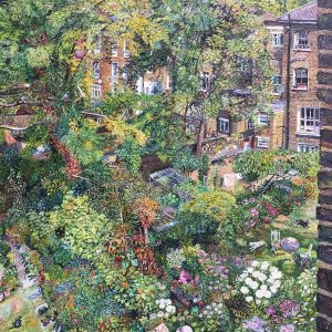 Summer Back Gardens Through the Window