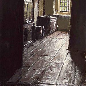 Gwydir Castle. Corridor with window.