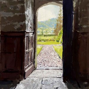 Gwydir Castle. View from the Hall of Meredith