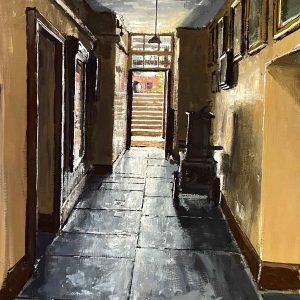 Powis Castle. Servant's corridor.