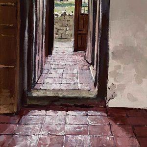 Rodd House. Servant's Corridor.