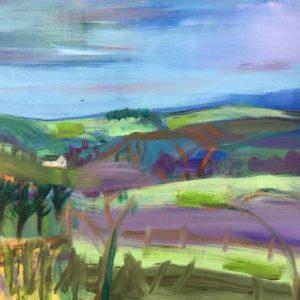 Purple Heather, the Moors
