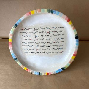Large Swimmers Rainbow Plate