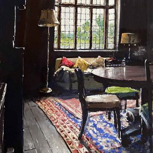 The Great Hall window with table and chairs